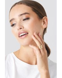 NA-KD - Big Feather Ring Gold - Lyst