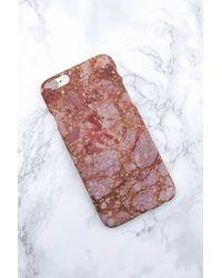 NA-KD - Iphone Case 6/6s Rust Terrazzo - Lyst