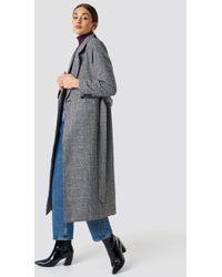 NA-KD - Double Breasted Plaid Coat Checked - Lyst