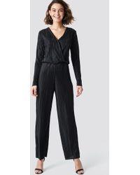 Rut&Circle - Pleated Jumpsuit Black - Lyst
