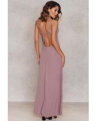 Glamorous - Crossback Pleated Dress - Lyst