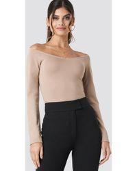 82092d6ec4ead0 Lyst - NYDJ Crinkle Lace Blouse (vintage Taupe) Women s Blouse in ...