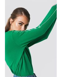 NA-KD - Branded Sweatshirt Strong Green - Lyst