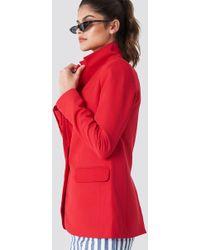 Trendyol - Classic Cut Blazer Red - Lyst