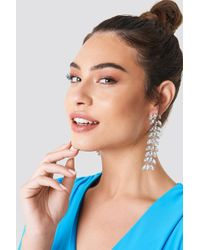NA-KD - Hanging Leaves Diamond Earrings - Lyst