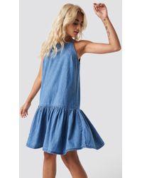 Mango - Nina Dress Open Blue - Lyst