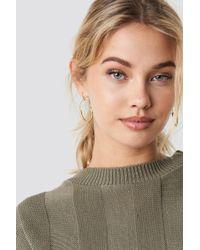 NA-KD - Fine Line Earrings Gold - Lyst