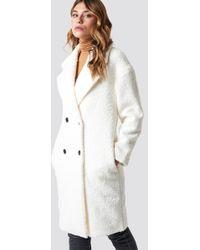 Glamorous - Teddy Fur Coat Cream - Lyst