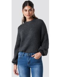 Mango - Saudade Sweater Anthracite - Lyst