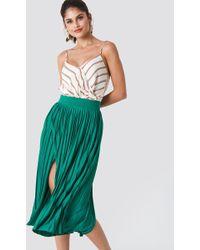 Trendyol - Pleated Midi Skirt - Lyst