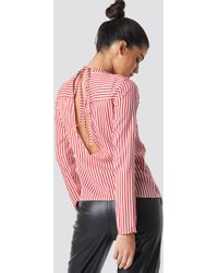 Rut&Circle - Layla Back Knot Shirt Red/white - Lyst