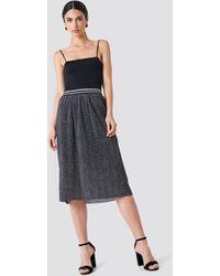 Rut&Circle - Glitter Pleat Skirt Grey - Lyst