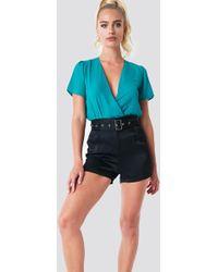 Trendyol - Wrap Around Body Turquoise - Lyst