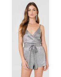 MINKPINK - Metallic Shorts - Lyst