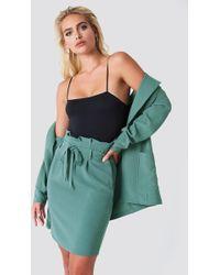 Rut&Circle - Ofelia Paper Waist Skirt Duck Green - Lyst