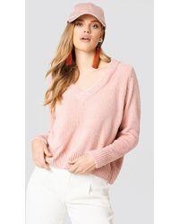Just Female | Velvet V-neck Knit | Lyst