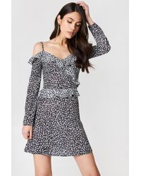 Oh My Love - Cold Shoulder Mini Dress - Lyst