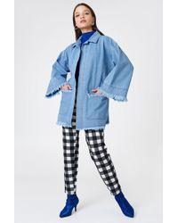 NA-KD | Raw Hem Denim Kimono | Lyst