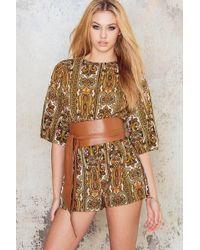 Motel Rocks - Pines Kimono Sleeve Playsuit - Lyst