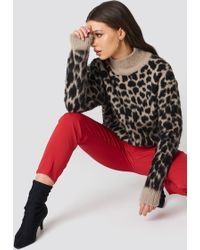 Nakd oversized leo maglione beigeblack zalando beige lana