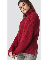Glamorous - Polo Knitted Jumper Raspberry - Lyst