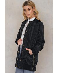 NA-KD - Side Zippers Long Bomber Jacket - Lyst