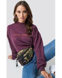 NA-KD - Game Over Sweatshirt Dark Purple - Lyst