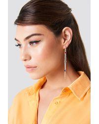 NA-KD - Rhinestone Back Chain Earrings Multicolor - Lyst