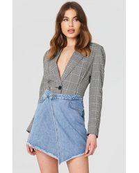 Trendyol - Asymmetric Cut Denm Skirt - Lyst