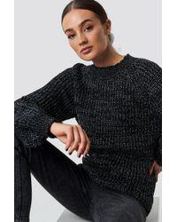 Rut&Circle - Bell Sleeve Lurex Knit Black - Lyst