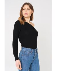 NA-KD - One Shoulder Oversize Knitted Sweater - Lyst