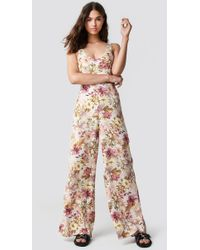 Mango - One-piece Nature Jumpsuit Offwhite - Lyst
