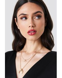 NA-KD - Double Crescent Structured Chain Necklace - Lyst