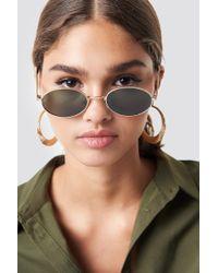 Mango - Tess Sunglasses Gold - Lyst