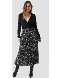 9ef7931871 Pull&Bear Pleated Metallic Midi Skirt in Metallic - Lyst