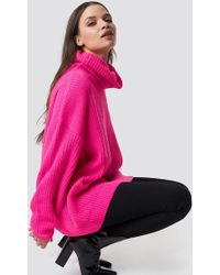 NA-KD - Neon Oversized Sweater Neon Pink - Lyst