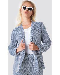 Rut&Circle - Firo Striped Blazer Blue/white Stripe - Lyst