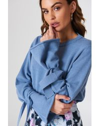 NA-KD - Tied Sleeve Knitted Sweater - Lyst