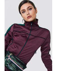 NA-KD - Track Zipped Sweater - Lyst