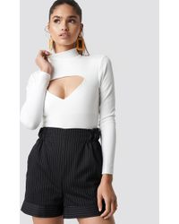 Motel Rocks - Xhesi Bodice Mini Rib White - Lyst