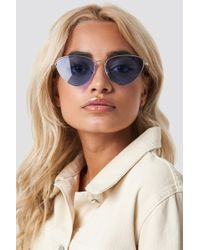NA-KD - Colored Cateye Sunglasses Purple - Lyst