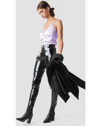 39cadd664c0e1f Forever21. Glamorous - Patent Straight Pants Black - Lyst