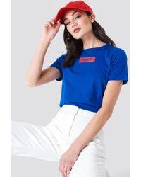 NA-KD - Logo Tee Royal Blue - Lyst