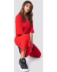 NA-KD - Belted Cropped Jumpsuit - Lyst