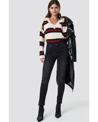 Rut&Circle - Victoria Skinny Raw Jeans Black Wash - Lyst