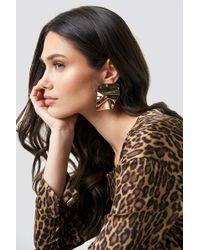 NA-KD - Big Shield Earrings Gold - Lyst