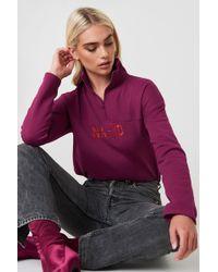NA-KD - Front Zipper Sweatshirt Burgundy - Lyst