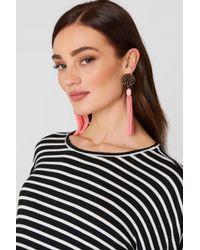 Mango - Micro Beads Tassel Earrings - Lyst