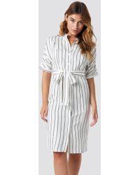 Mango - Agnes Midi Dress Offwhite - Lyst