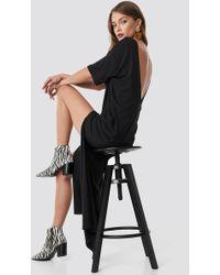 NA-KD - Deep Back Oversize Dress Black - Lyst